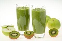 Kiwi and apples Smoothie royalty free stock image