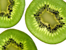 Kiwi background. Isolated kiwi slices on white background Stock Photography