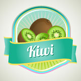 Kiwi badge Royalty Free Stock Image