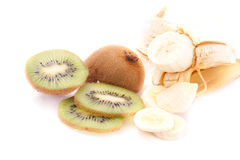 Kiwi and banana Royalty Free Stock Images