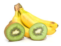 Kiwi and banana Stock Photography