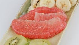 Kiwi,banana,grapefruit Stock Photography
