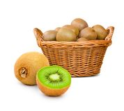 Kiwi basket Stock Image