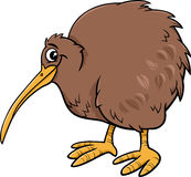 Kiwi bird cartoon illustartion Stock Photos