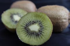 Kiwi. In black and green Royalty Free Stock Images