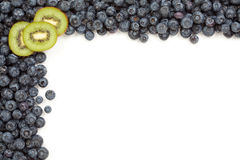 Kiwi and Blueberries Border Royalty Free Stock Image