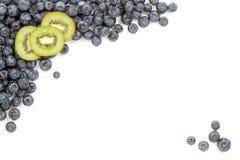 Kiwi and Blueberries Border Stock Image