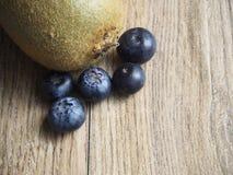 Kiwi and blueberries royalty free stock photo