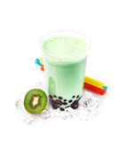 Kiwi Boba Bubble Tea Royalty Free Stock Photo