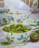 Kiwi in a Bowl Royalty Free Stock Photos