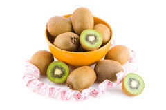 Kiwi in a bowl Royalty Free Stock Photos