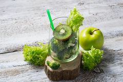Kiwi and broccoli, Ingredient for preparation green smoothie Stock Photos