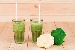 Kiwi brokuły i sok Obrazy Stock