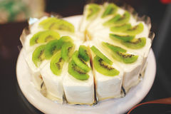 Kiwi Cake Fotografía de archivo libre de regalías