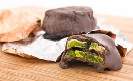 Kiwi chocolate Stock Images