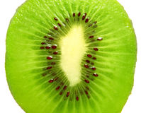 Kiwi close-up on white Stock Images