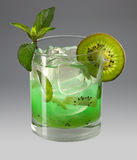Kiwi cocktail. Fine tasty appetizing cocktail from a kiwi with ice Stock Photo