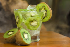 Kiwi cocktail Stock Images