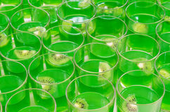 Kiwi cocktails on buffet table Royalty Free Stock Image