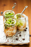Kiwi,coffee and ricotta dessert Royalty Free Stock Photo
