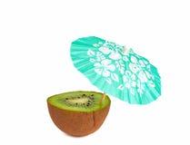 Kiwi con l'ombrello del cocktail della bevanda Fotografia Stock