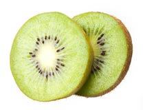 Kiwi cortado. Fruta en blanco Fotos de archivo libres de regalías