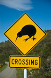 Kiwi Crossing. A Kiwi crossing sign in New Zealand royalty free stock images