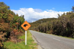 Kiwi Crossing Sign Stock Images
