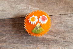 Kiwi cupcake Stock Images