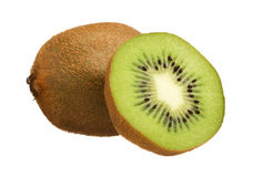 Kiwi cut in half isolated on white background Stock Photography