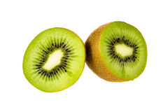 Kiwi cut in half Stock Photos