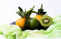 Kiwi cytryny tangerine zdjęcia stock