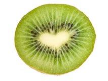 Kiwi d'isolement sur le fond blanc avec la PA de découpage Photographie stock libre de droits