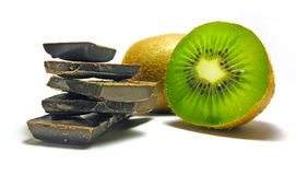 Kiwi de chocolat Photos libres de droits
