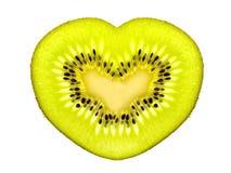 Kiwi de forme de coeur Photo libre de droits