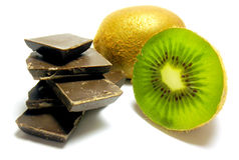 Kiwi del chocolate Imagen de archivo libre de regalías