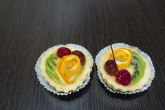Kiwi dell'arancia della ciliegia del dolce Fotografie Stock