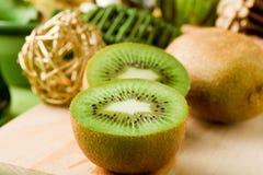 Kiwi Dessert on cutting board Royalty Free Stock Photo