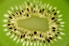 Kiwi detail. Close-up of center kiwi fruit Stock Photo