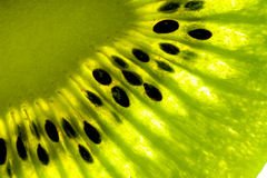 Kiwi details. Photograph in study of the fruit, showing details Royalty Free Stock Photo