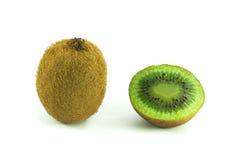Kiwi die op Wit wordt geïsoleerd Stock Fotografie