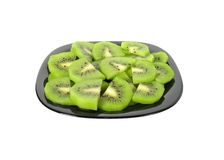 Kiwi on dish Stock Photography
