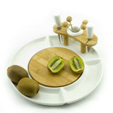 Kiwi on plate Royalty Free Stock Photo