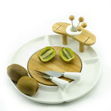 Kiwi on plate Royalty Free Stock Photos