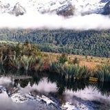 Kiwi doświadczenia widoku lustra zadziwiający jezioro Zdjęcia Royalty Free