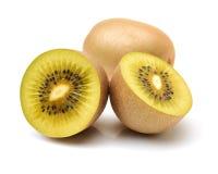 Kiwi dorato tagliato Actinidia chinensis del kiwifruit/ immagine stock libera da diritti