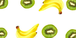 Kiwi e banana Immagine Stock