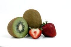 Kiwi e fragola Immagini Stock
