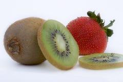 Kiwi e fragola Fotografia Stock Libera da Diritti