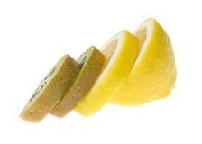 kiwi e limone Fotografia Stock Libera da Diritti